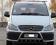 Mercedes Viano Кенгурятник WT003-Plus с усами 60мм