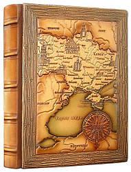 """Ежедневник кожа """"Карта Украины"""" А5"""