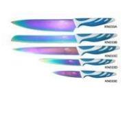"Нож (нерж.+ титан покр.)  FRICO FRU-480, 3,5"" для чистки и резки овощей, фото 2"