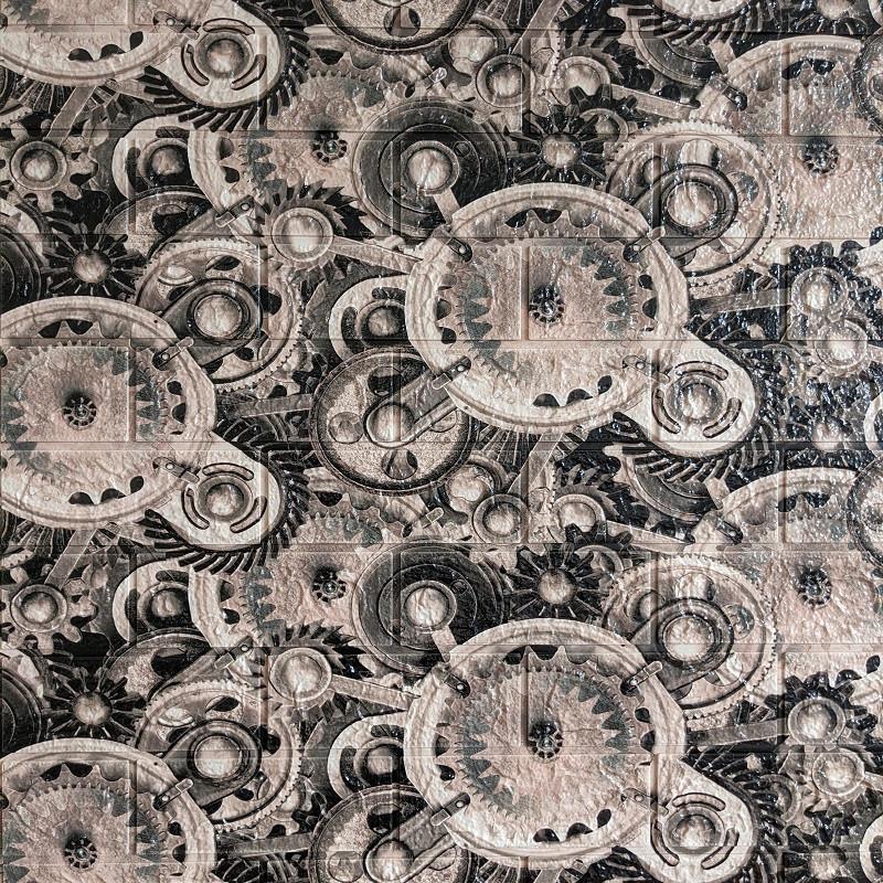 Самоклеющаяся декоративная 3D панель шестеренки 700x770x5мм