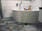 Декоративна 3D панель самоклейка під цеглу сіро-синій Катеринославський 700х770х5мм, фото 6