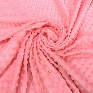 Плюшевая ткань Minky коралловый (плот. 380 г/м.кв)