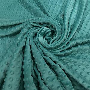 Плюшевая ткань Minky морская волна (плот. 380 г/м.кв)
