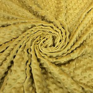 Плюшевая ткань Minky горчица (плот. 380 г/м.кв)