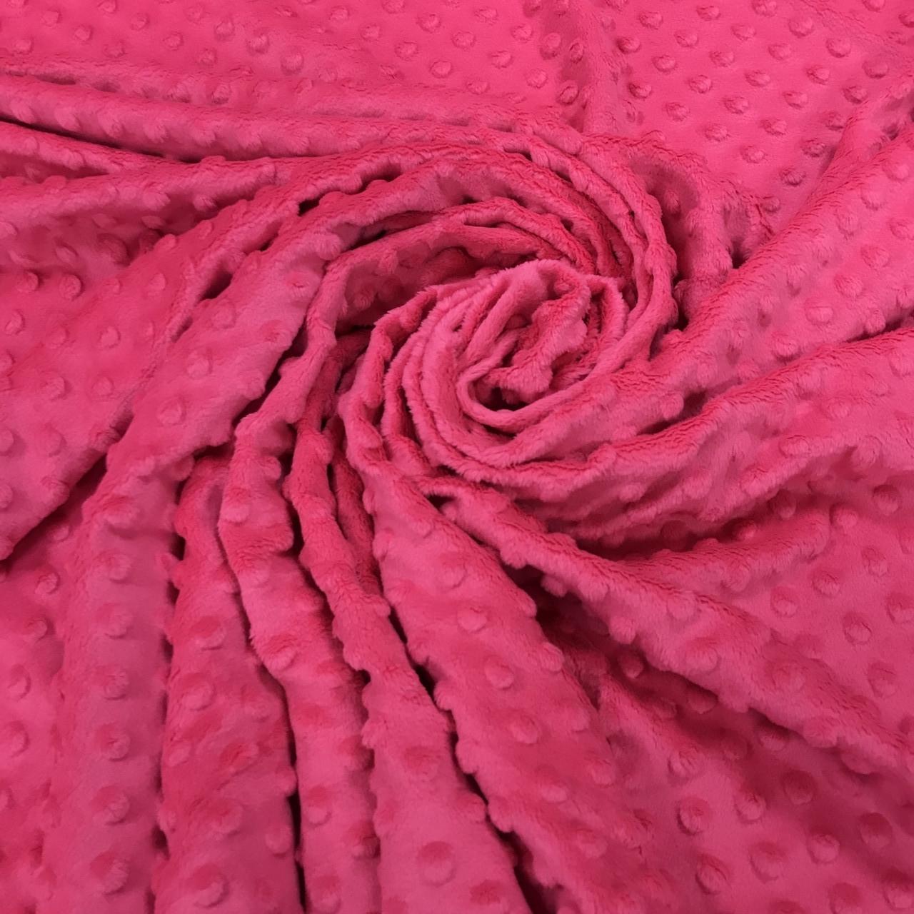Плюшева тканина Minky малина (пліт. 380 г/м. кв)