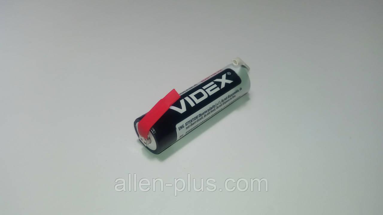 Акумулятор Videx HR6/AA 1.2 V 2500mAh NI-MH з пелюстками під пайку