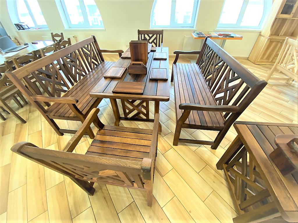 Деревянная мебель из массива термо дуба от производителя