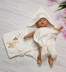 Детское полотенце-уголок для купания / полотенце с капюшоном / детское полотенце с уголком 90х90 см, фото 2