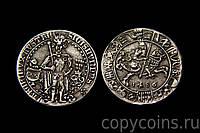 Монета 1486 года гульдинер Сигизмунд Тироль, копия иностранной монеты серебро №500 копия, фото 1