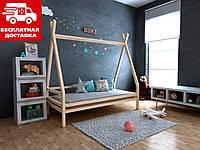 Дитяче ліжко-будиночок (вігвам) Моана плюс 90*190 (масив вільхи), фото 1