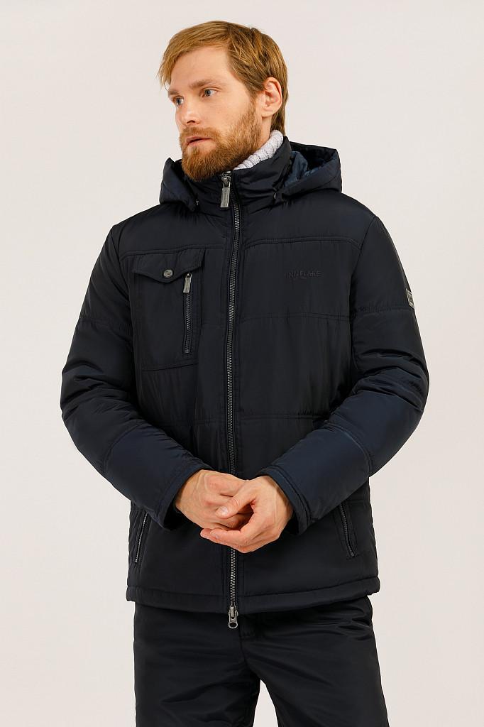Мужская демисезонная куртка Finn Flare W19-22009-101 темно-синяя
