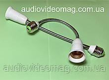 Переходник-светильник 29 см, на гибкой ножке для ламп с цоколем Е27