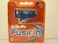 Кассеты для бритья мужские Gillette Fusion 3 шт. ( Картриджи,лезвия Жиллет фьюжин оригинал ), фото 1