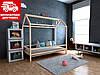 Дитяче ліжко-будиночок Кітті 70*140 (масив вільхи)