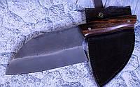 Серб, сербcкий нож ручной работы с рукоятью из айронвуд и чехлом, Х12МФ