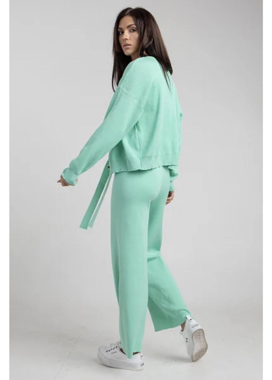 Трикотажний жіночий костюм-трійка (кардиган, штани, майка) в 6 мікс кольорах в універсальному розмірі 4577