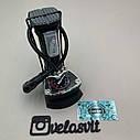 Компактний однопоршневий ножний насос для велосипеда з манометром, фото 4