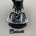 Компактний однопоршневий ножний насос для велосипеда з манометром, фото 7