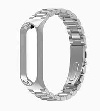 Металлический браслет MIJOBS для фитнес трекера Xiaomi mi band 5 аксессуар замена цвет серебристый