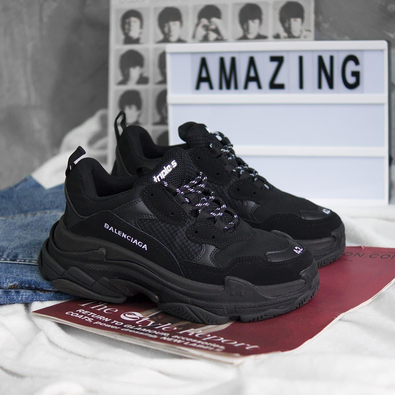 Чоловічі кросівки Balenciaga Triple S black