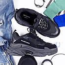 Чоловічі кросівки Balenciaga Triple S black, фото 3