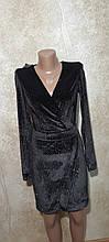 Маленькое черное мерцающее бархатное платье. Размеры S,M,L.