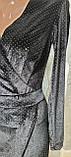 Маленькое черное мерцающее бархатное платье. Размеры S,M,L., фото 4