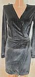 Маленькое черное мерцающее бархатное платье. Размеры S,M,L., фото 6