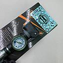 Насос ручной с манометром алюминиевый, фото 2
