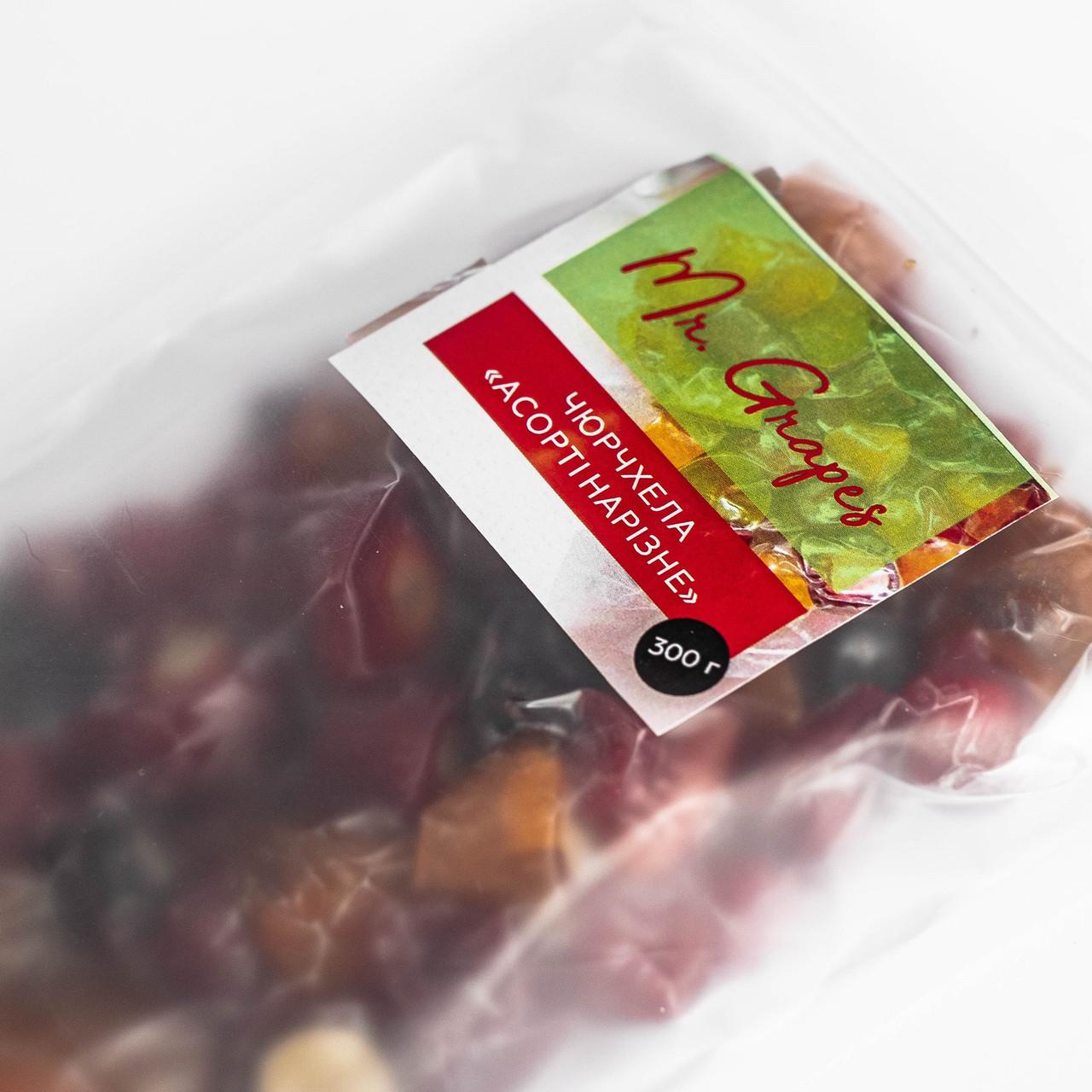 """Асорті чюрчхели """"Нарізне"""" Mr. Grapes без цукор, 300 г"""