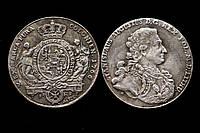 Монета 1766 года 1 талер Станислав Август Понятовский Польша, копия в серебре №507 копия