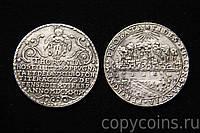 Монетовидная медаль  1629 года талер Битва при Торуни Польша,  серебро №508 копия, фото 1