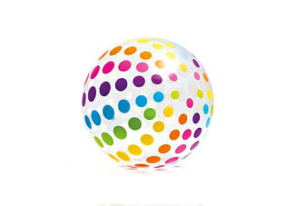 М'яч надувний пляжний INTEX 6-ти кольоровий 3+ років 107 см 59065