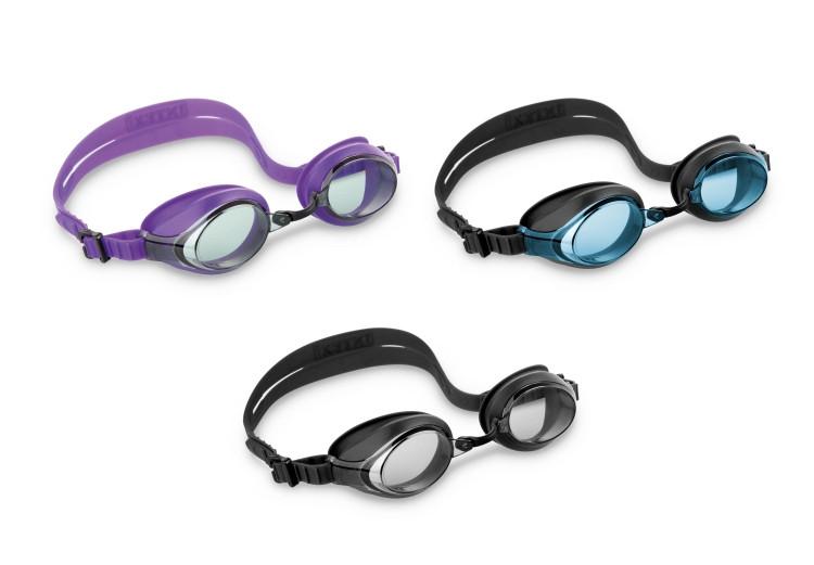 Окуляри для плавання (очки) INTEX 55691 (12шт) від 8 років, 3 види