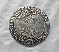 Монета 1535 года шостак Сигизмунт Старый,герб Гданьска, копия в серебре №509 копия