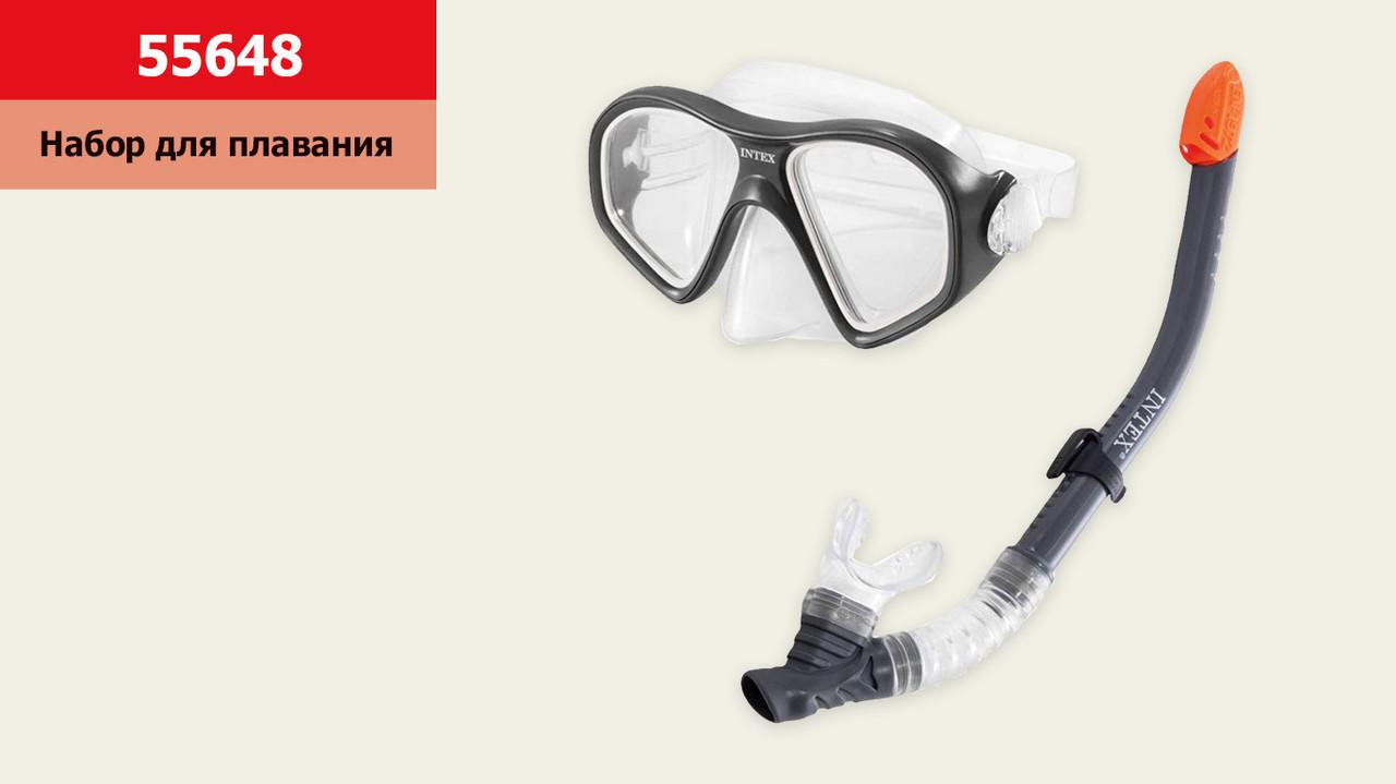 Набір для плавання INTEX 55648 (6шт) трубка та маска, від 14 років, під слюдою