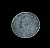 10 лит 1918-1938 гг первая юбилейная монета Литвы, в честь 20- летия независимости, копия в серебре №513 копия