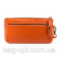 Женская косметичка Alex Rai из натуральной кожи (20x10x3 см) orange