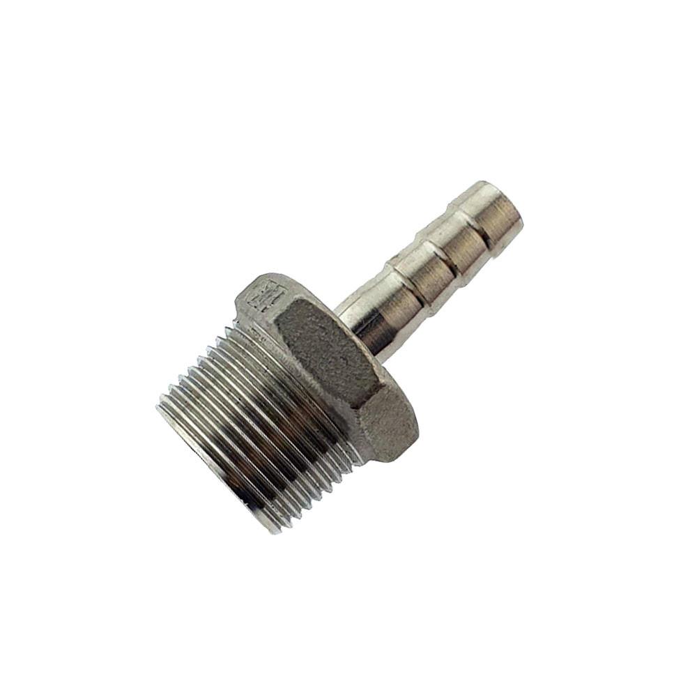"""Штуцер шланговый AISI 304 ½"""" адаптер-елочка 8 мм."""