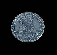 Талер 1580 г. Польша-Литва Стефан Баторий,  в серебре №519 копия