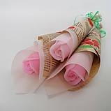 Мыло тюльпаны роза (поштучно)  букет из мыльных цветов  мыльная цветочная композиция из мыла ручной работы, фото 6