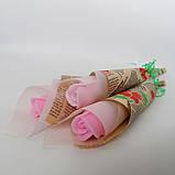Мыло тюльпаны роза (поштучно)  букет из мыльных цветов  мыльная цветочная композиция из мыла ручной работы, фото 5