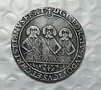 Талер 1659 г. Германия Людовик Георг Кристиан, копия в серебре №520 копия