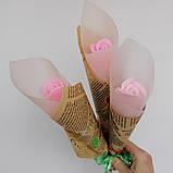 Мыло тюльпаны роза (поштучно)  букет из мыльных цветов  мыльная цветочная композиция из мыла ручной работы, фото 4