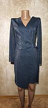 Стильное вечернее платье цвета морской волны с запахом. Размеры S, M, L.