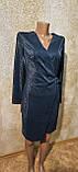 Стильное вечернее платье цвета морской волны с запахом. Размеры S, M, L., фото 3