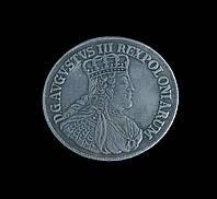 Талер 1753 г. Польша Август III Кюрфюрст Саксонии, копия в серебре №522 копия