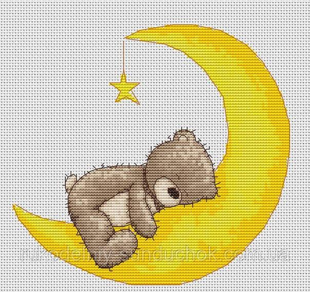 Набор для вышивки крестом Luca-S B1096 Медвежонок Бруно