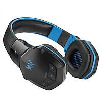 Беспроводные Bluetooth наушники Kotion Each B3505 с автономностью до 10 часов Черно-синий (hpkotb3505blbu)