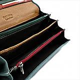 Женский кожаный кошелек Weatro 583-B149-2 Синий, фото 5